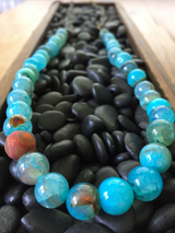Blue Haze Fire Agate Necklace