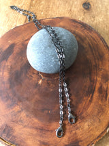 Simple Gunmetal Chain Masklace