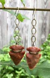 Jasper Arrowhead Earrings