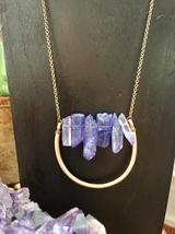 Lavender Crystal Points Necklace