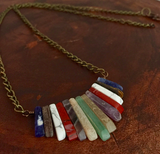 Earthy Mixed Gemstones Necklace