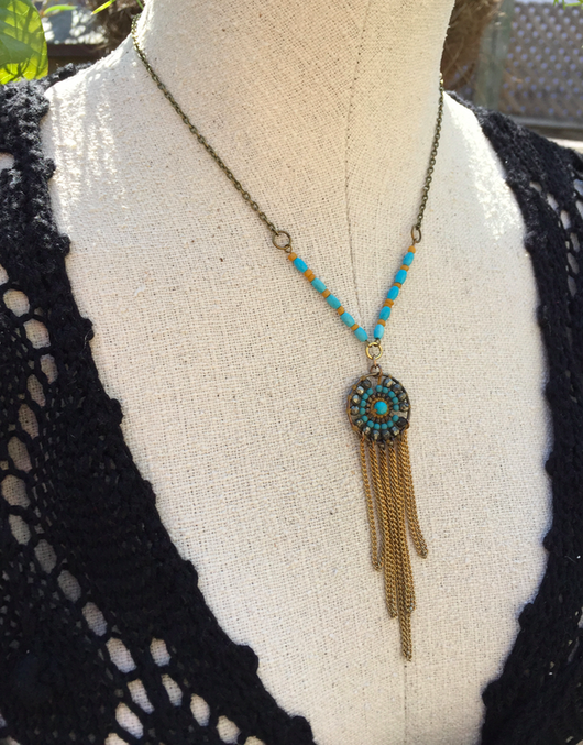 repurposed vintage focal necklace