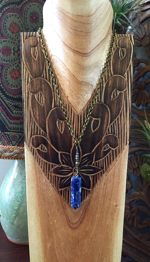 Sodalite Point Necklace