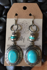 Repurposed Vintage Turquoise Earrings