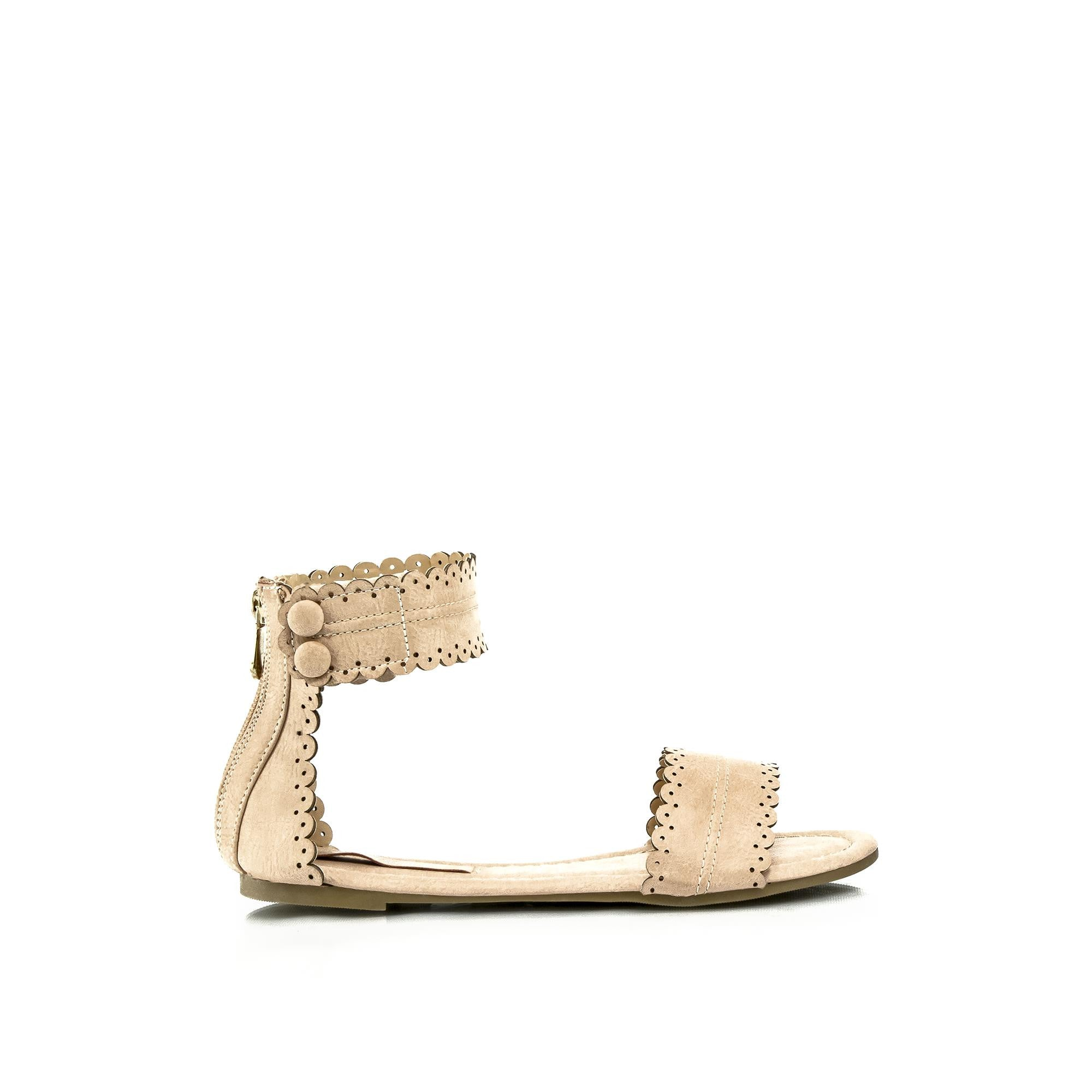 ABBEY Scalloped Sandals