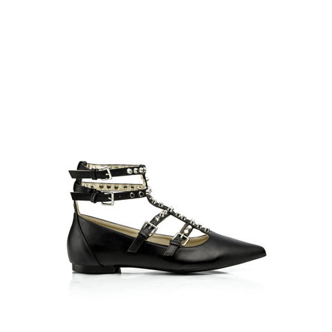 ALEXIS Studded Caged Flats