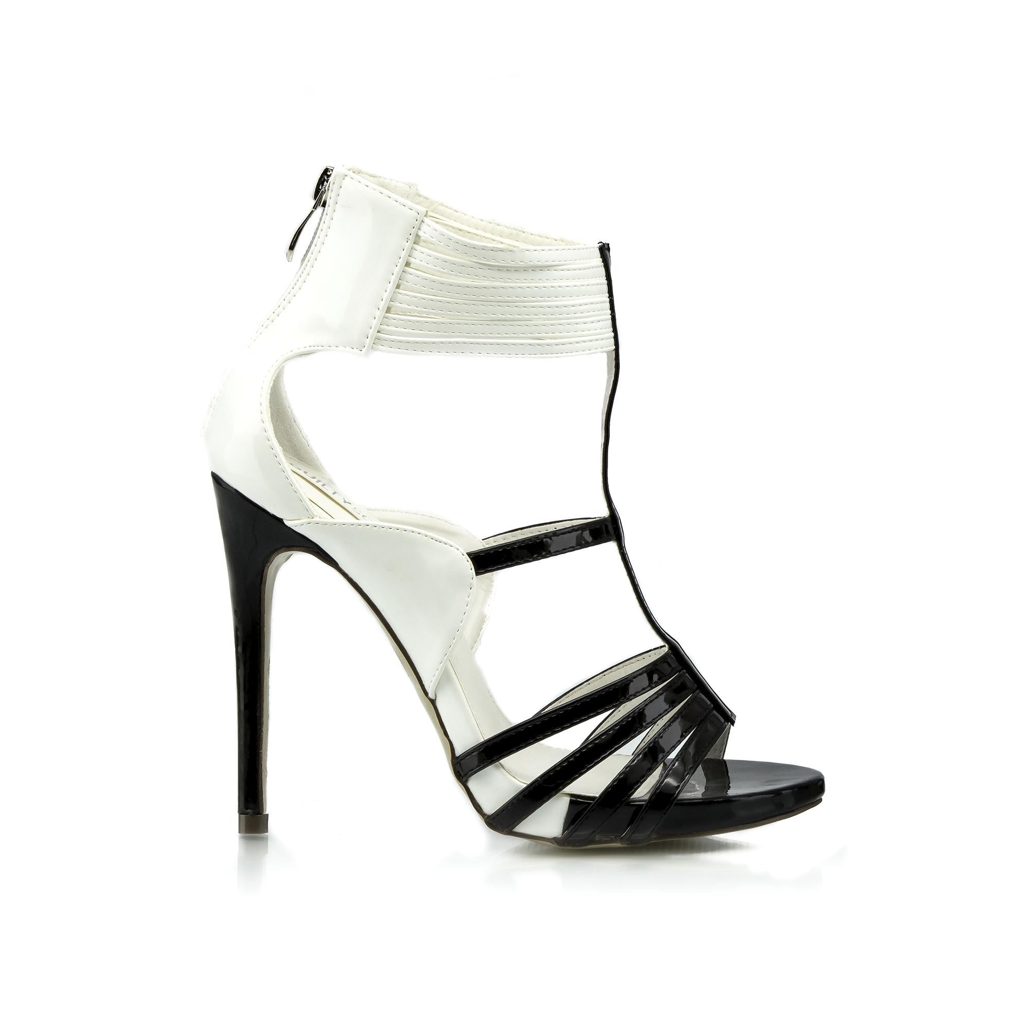 BELINDA Strappy Color Block Stiletto