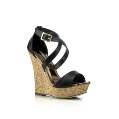 KAIA Strappy Wedges