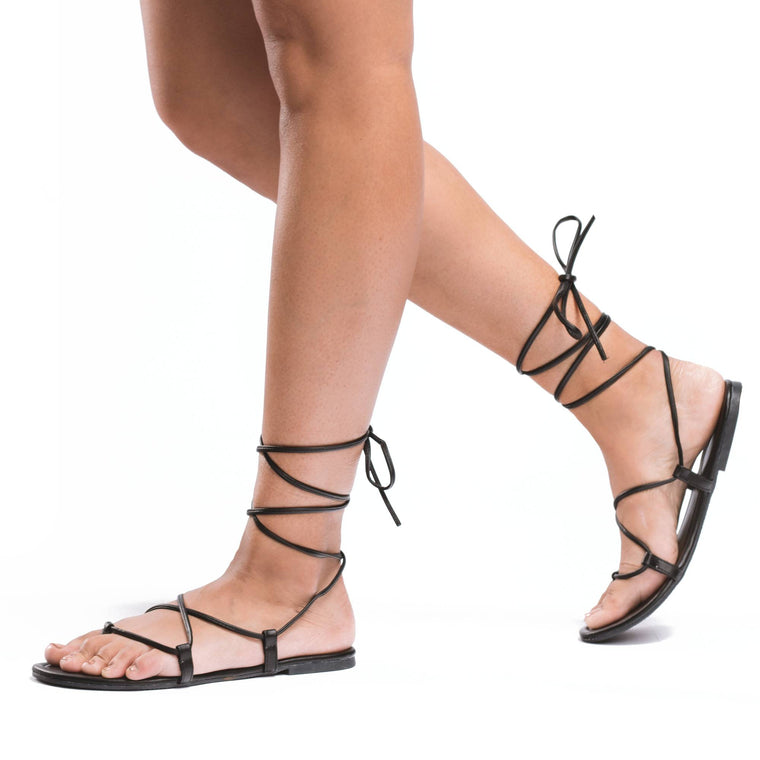 REYNA Lace-Up Gladiator Sandal