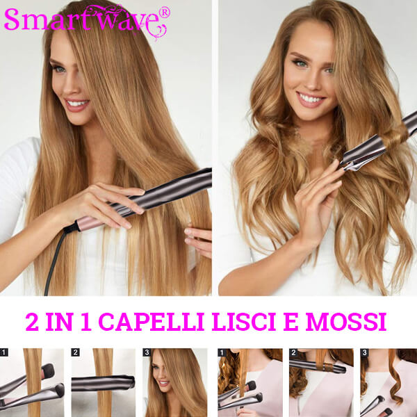 Smartwave Piastra Capelli Curl Straight Pinkmintlove
