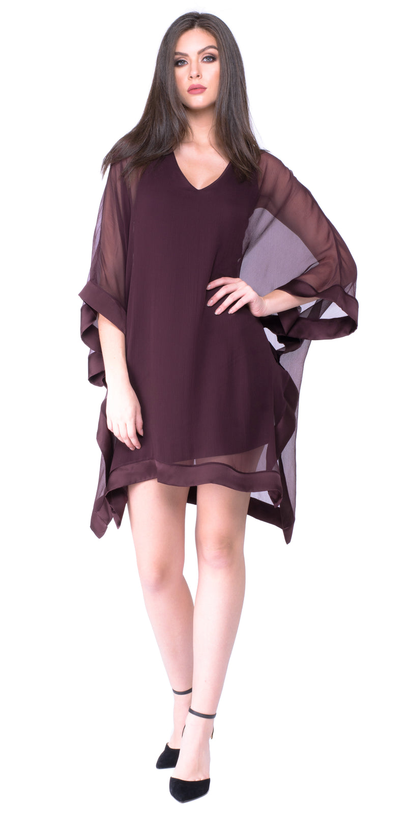 Ariel V Neck Open Drape Dress