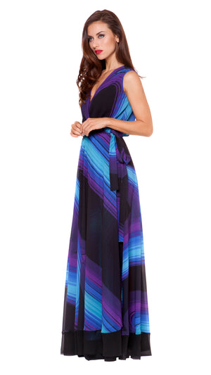 Francesca Long Wrap Dress