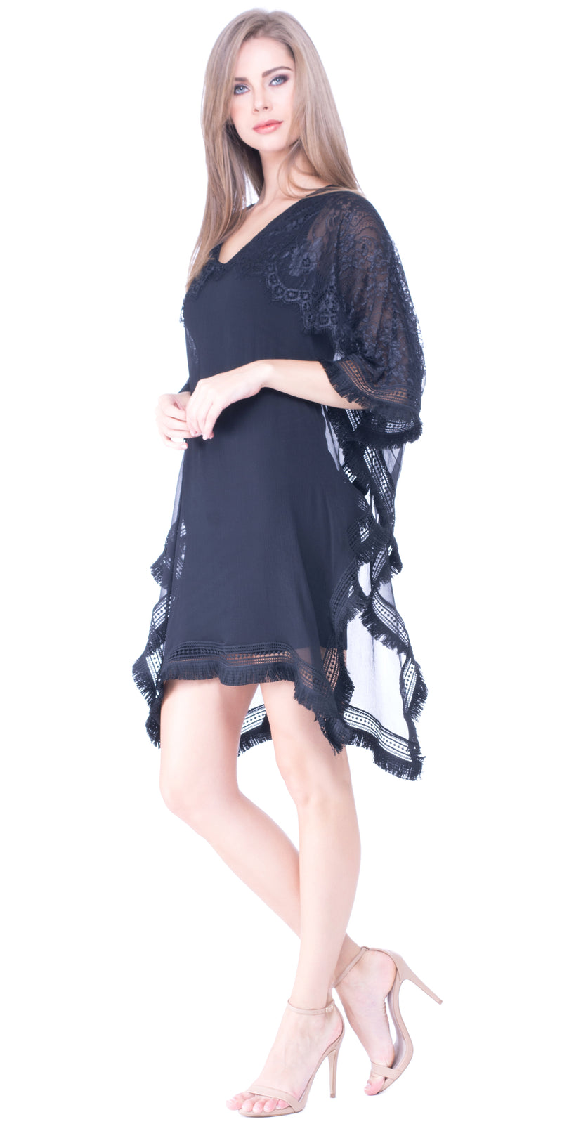 Ariel Silk + Lace Overlayer Dress