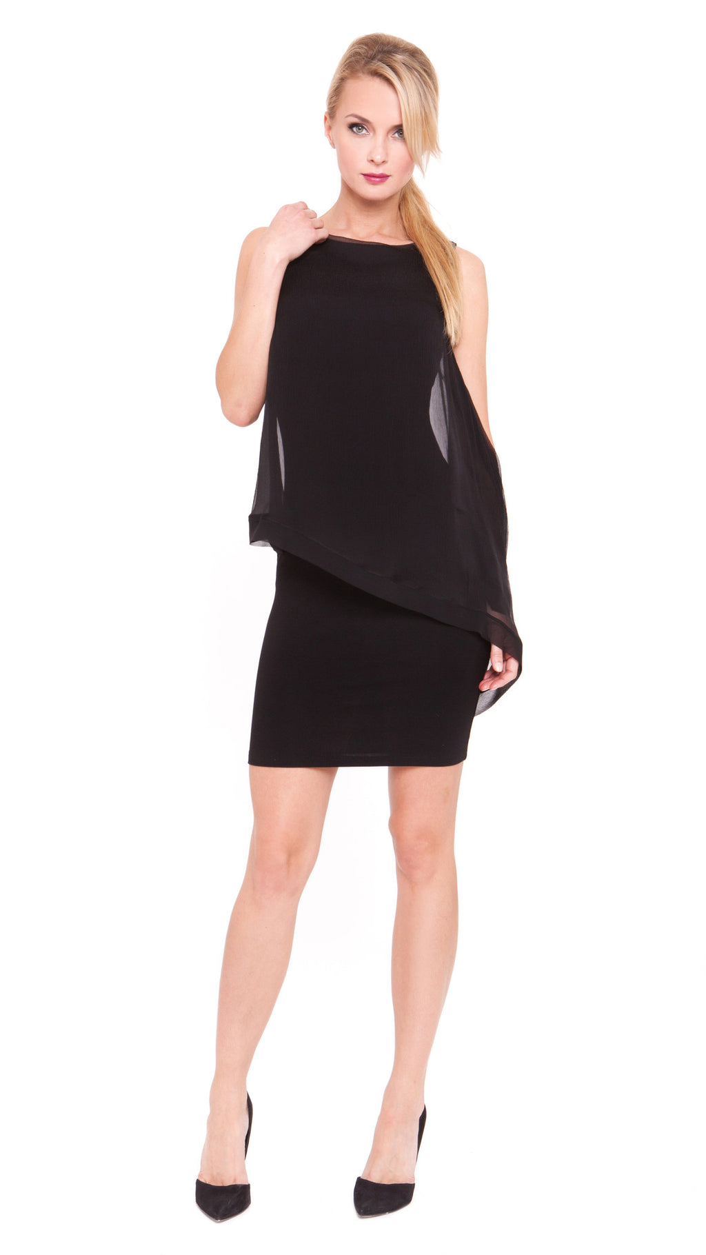 Z Rene Asymmetric Drape Dress