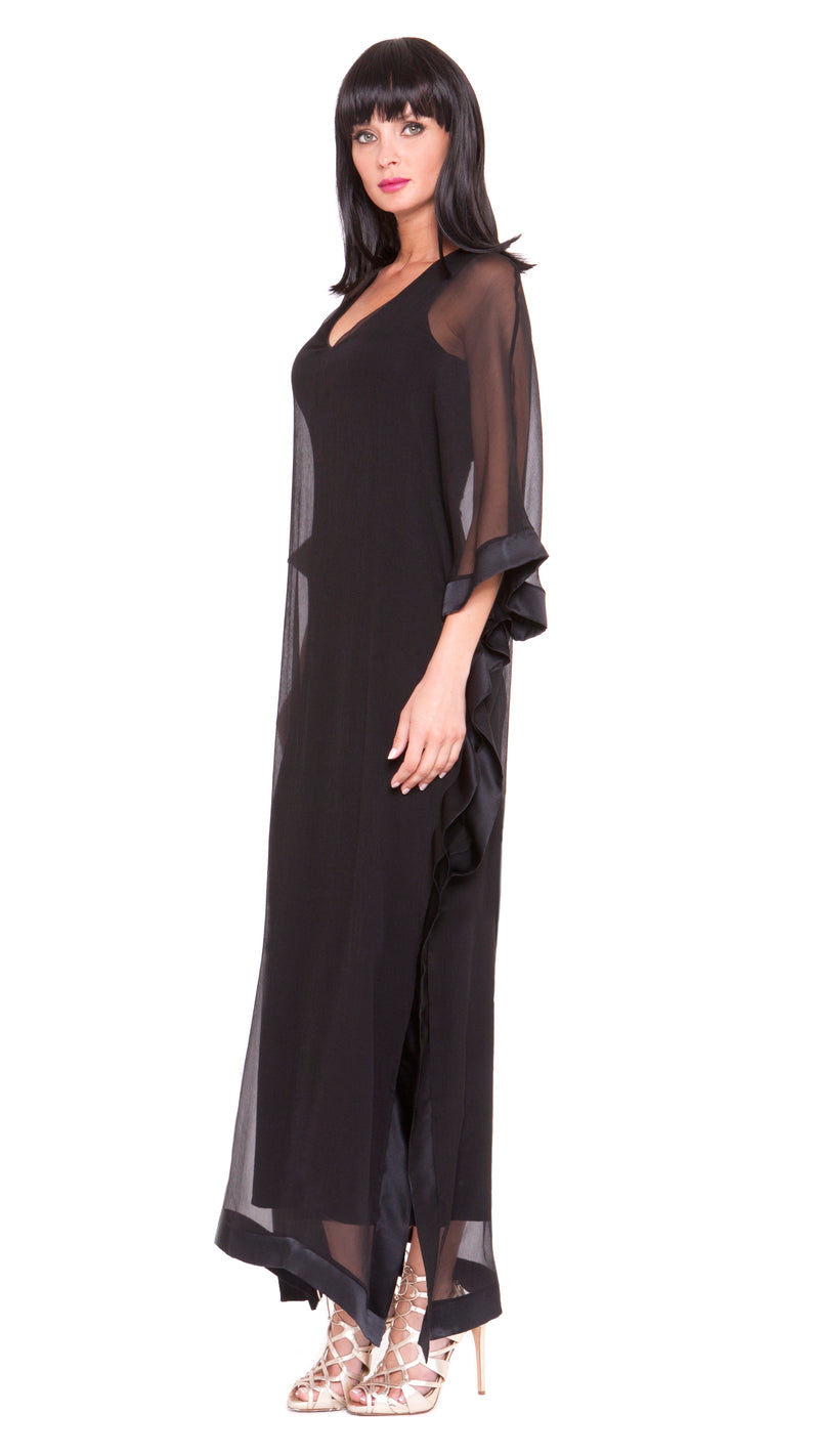 Lizzy Open Drape Maxi Dress