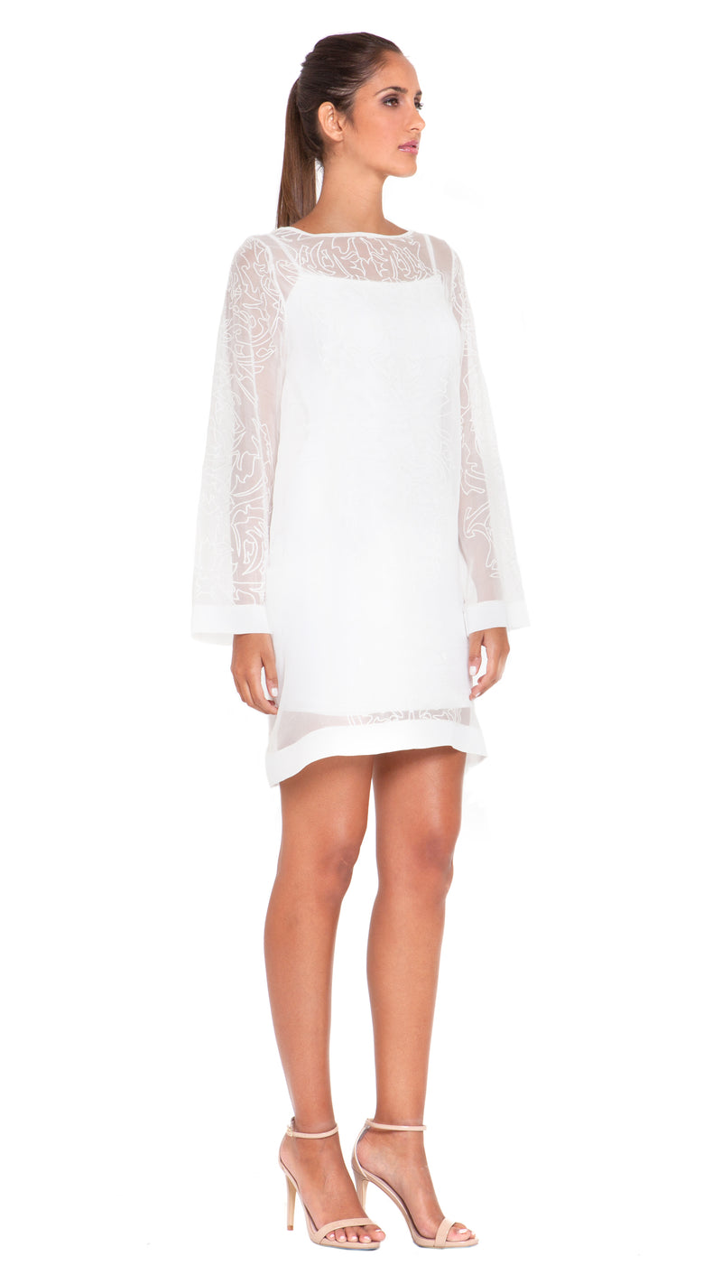 Suri Embroidery Shift Dress