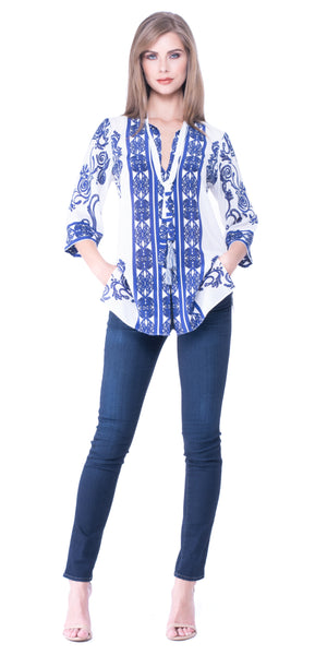 Abra Silk Blouse