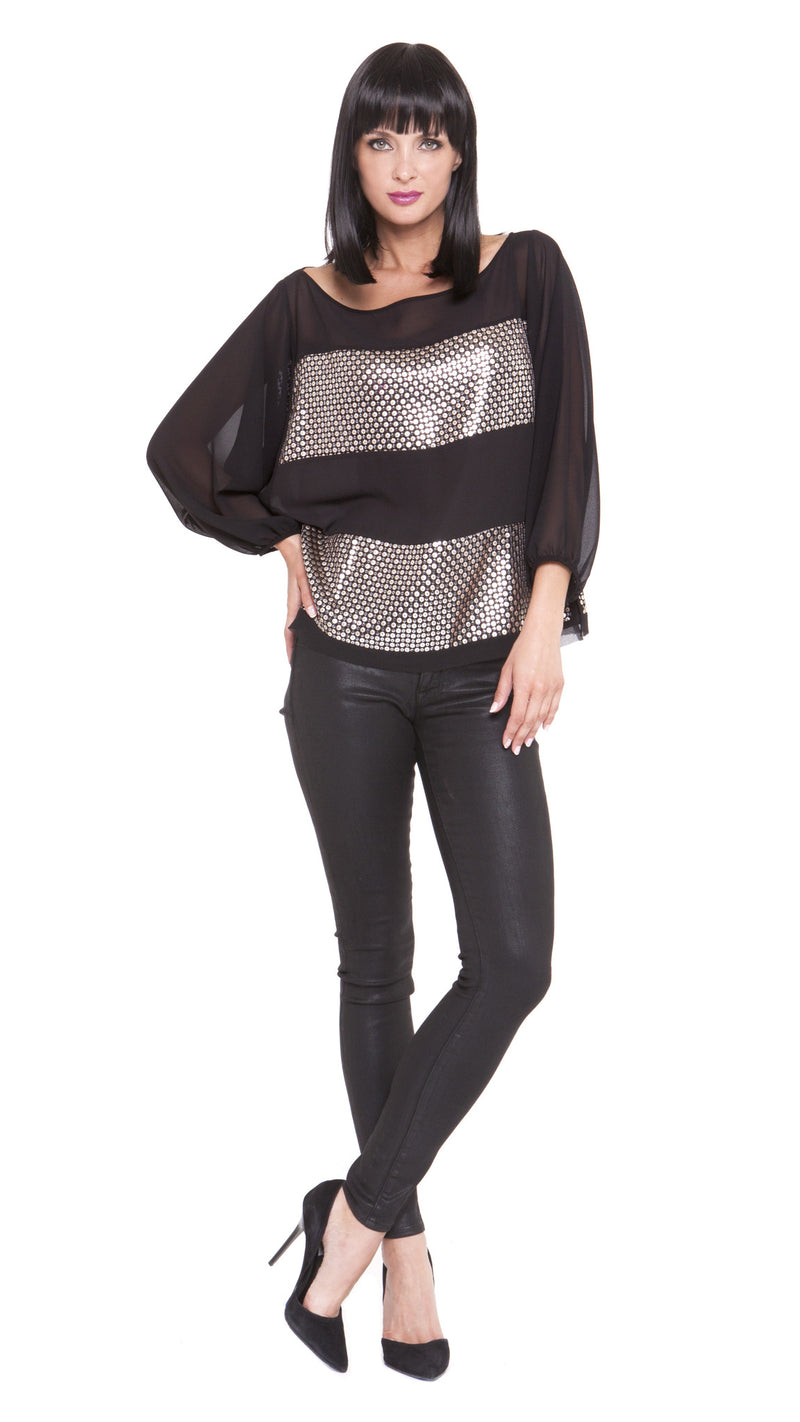 Z Luna Sequin Stripe Top