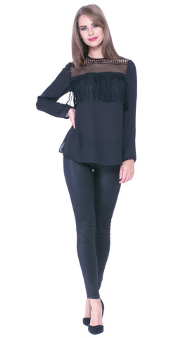 Analice Fringe Top