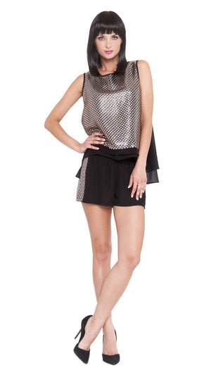 Z Luna Sequin Panel Shorts