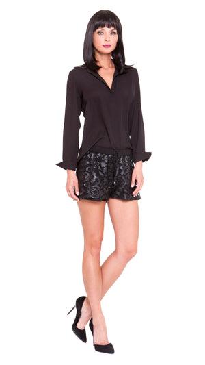 Dylan Pleather Lace Shorts