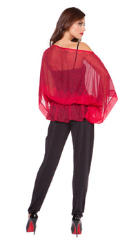 Sonia Silk Blouson Top