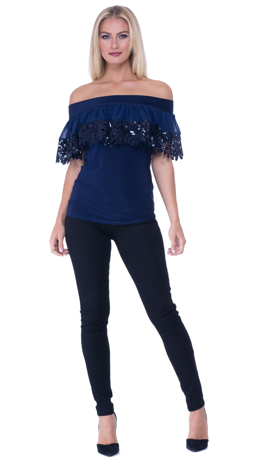 Iris Off The Shoulder Ruffled Top