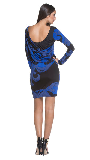 Rachel Back Drape Dress