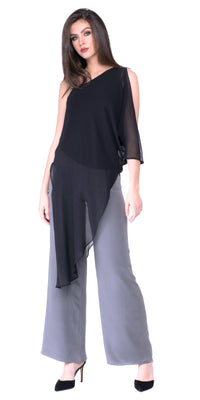 Gabby Asymmetrical One Shoulder Blouse
