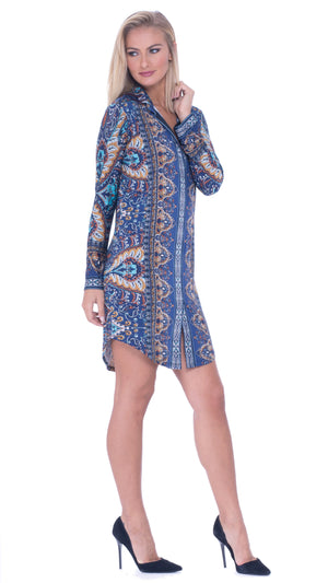 Adriana Faux Button Down Dress