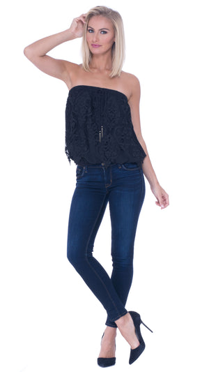 Lisette Lace Tube Top