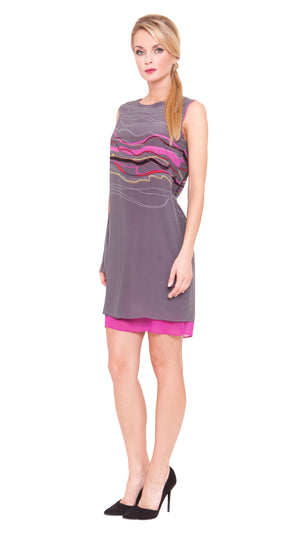 Lucy Folded Pleat Dress