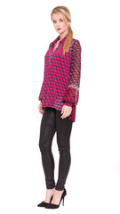 Helen Open Collar Tunic