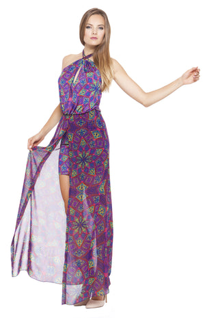 Syndey Open Slit Maxi Dress