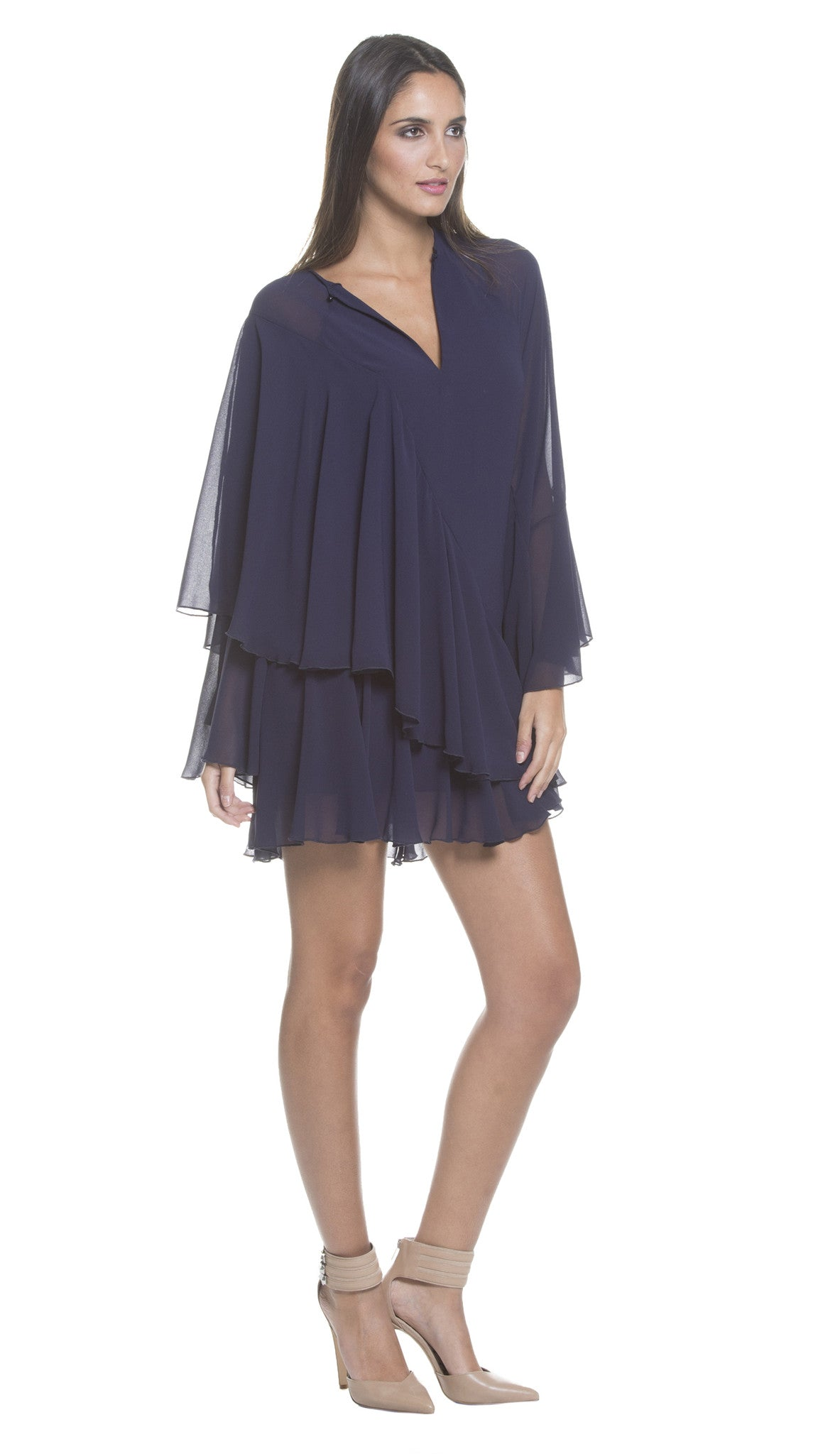 Rue Tiered Chiffon Dress