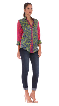 Kelsey Faux Button-Down Top