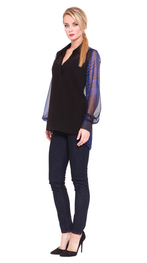 Jewel Open Collar Tunic