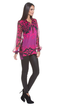 Dana Chiffon Panel Top