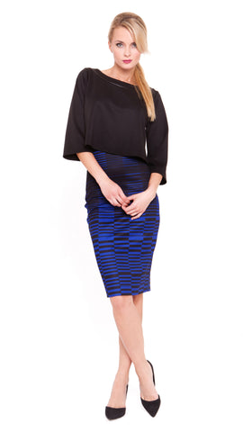 Jewel High-Waisted Pencil Skirt