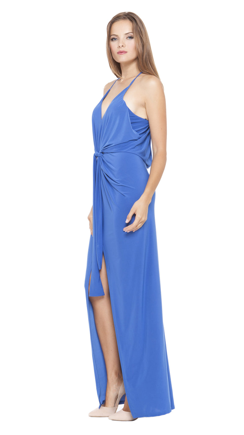 Z Vivian Draped Knot Maxi Dress