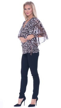 Rebekah Butterfly Sleeved Wrap Top