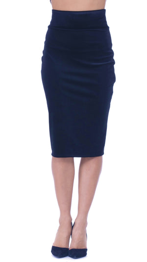 Stacy Velvet Pencil Skirt