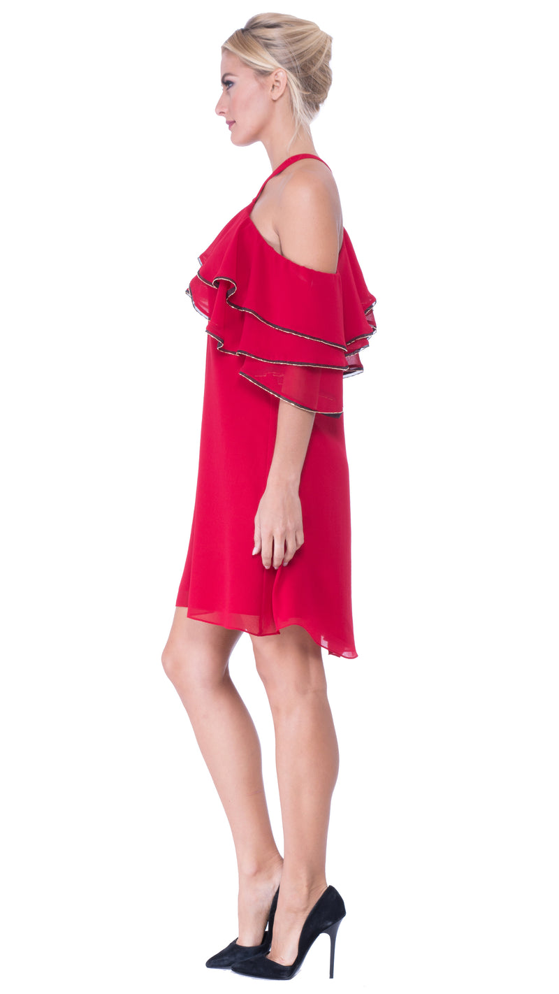 Brittney Off The Shoulder Ruffle Dress