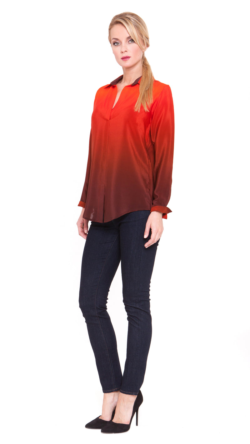 Lara Faux Button Down Top