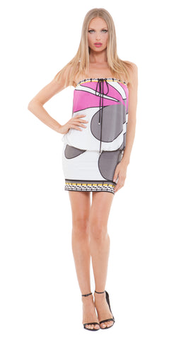 Vanna Strapless Blouson Dress