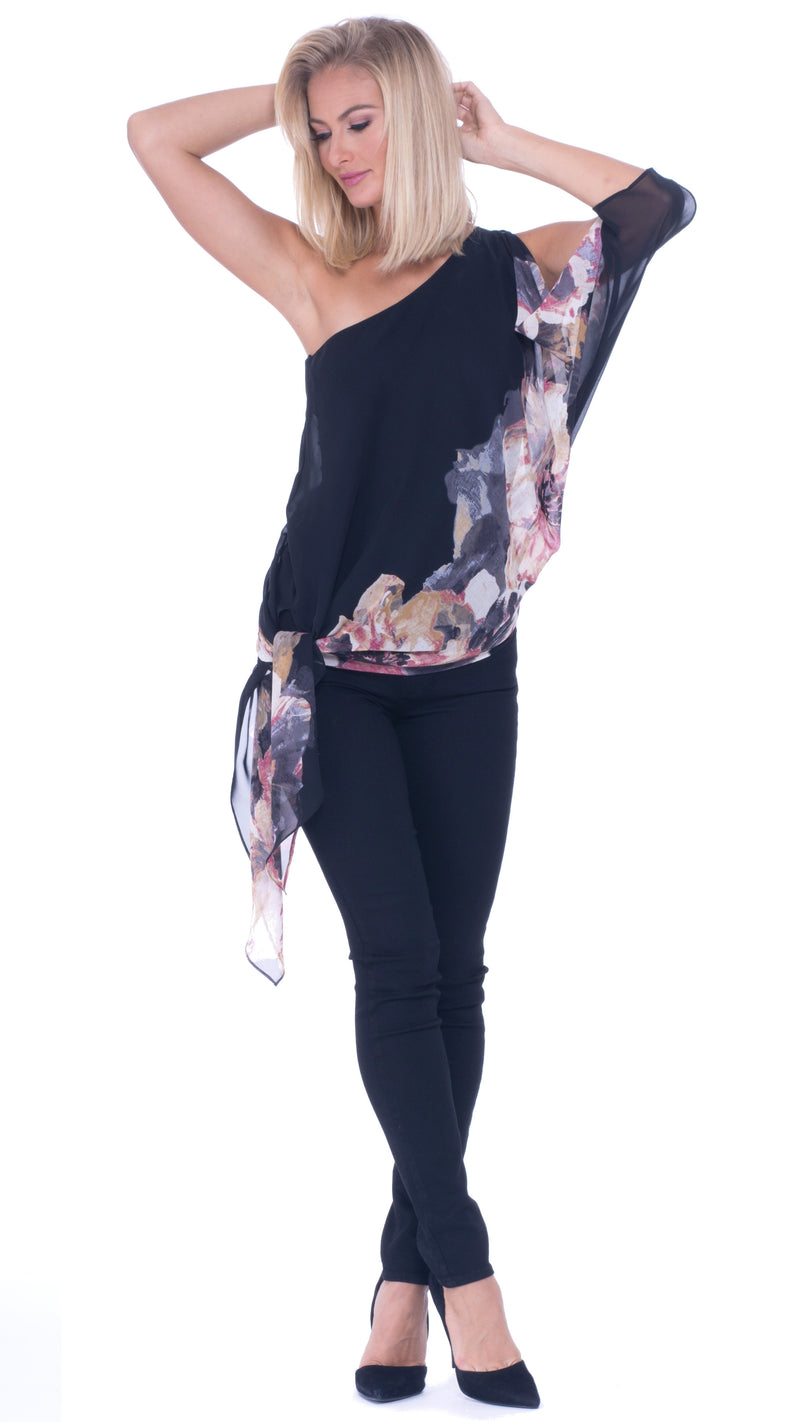 Carla One Shoulder Asymmetrical Top
