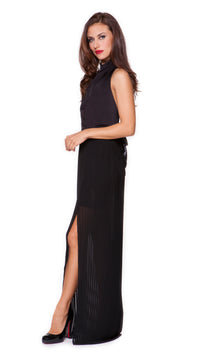 Wendy Pleated Long Dress