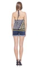 Hazel Asymmetric Halter Top