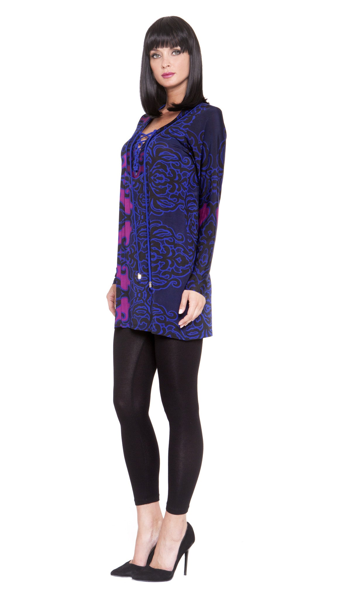 Z Cara Drawstring Tunic Dress