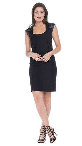Sasha Sequin Cap Sleeve Dress